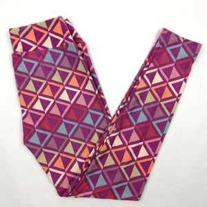 Lularoe New pink abstract print Leggings One Size